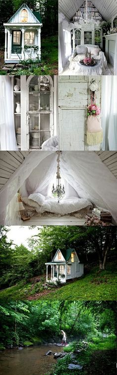 oh my... I want a  cubby house like this...