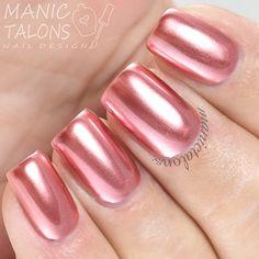 metallic nails in Life on Mars. So shiny I love it.