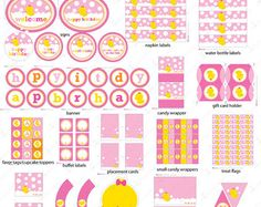 Items similar to Girl Rubber Ducky Birthday Decorations Printable - Rubber Duck Birthday Party - Pink and Yellow First Birthday - Girl Duck Birthday on Etsy Rubber Duck Birthday, Pink Birthday, Girl First Birthday, Birthday Parties, Birthday Kids, Party Kit, Baby Party, Party Ideas, Baby Shower Duck