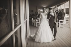 The sweetest moment leading away from the ceremony <3 Photo by Dustin Lewis Images