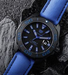 Gear up for summer with the TAG Heuer Aquaracer Calibre 5 Blue Ceramic #tagheuer…