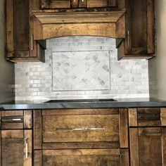 Carrara Venato Marble Mosaic Tile in Beveled Mini Brick Subway Tiles Pattern - Polished Honed Marble, Marble Mosaic, Mosaic Tiles, Subway Tile Patterns, Beveled Subway Tile, Kitchen Remodel Cost, Classic Interior, Fireplace Surrounds, Kitchen Backsplash