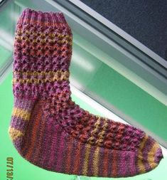 my new favorite sock pattern - knits up FAST and is not boring