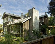 love the board & batten metal roof (AH!), board & batten siding ad those upper windows are my favorite kind