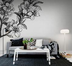 Hey, look at this wallpaper from Rebel Walls, Springtime, black&white! #rebelwalls #wallpaper #wallmurals