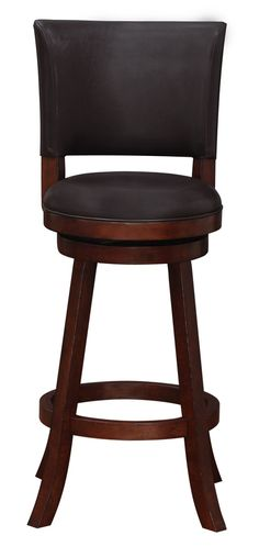 Features: -Made with rubberwood, MDF, and wood veneer. -Faux leather upholstery. -High-density foam seat cusion. Seat Back Included: -Yes. Frame Material: -Wood. Seat Material: -Faux leather. S