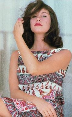 Elizabeth Montgomery. Strange to see her as a brunette, but she looks beautiful!