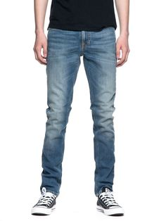19588419 Details about Nudie Men's Slim Fit Stretch Jeans Toursers Lean Dean Silver  Lake Rrp