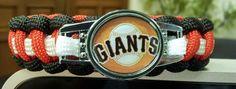 "SF Giants Baseball Bracelet MLB — FREE SHIPPING+2 Keychain with BUY NOW. sz 7.5"" #sfgiants"