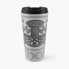 'Thor Celtic God' Travel Mug by KrasiStaleva Norse Mythology, Sell Your Art, Thor, Travel Mug, Vikings, Celtic, Art Prints, Mugs, The Vikings