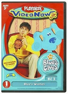 Personal Video Disc: Blue's Clues – Blue's Wishes Blues Clues, Thing 1, Kids Videos, Health And Safety, Baby Toys, Jr, Baseball Cards, Games, Learning
