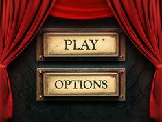 Game menu. Play button and description down bellow