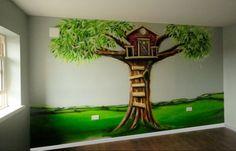 Wandfarbe Kinderzimmer: Ideen mit Baum