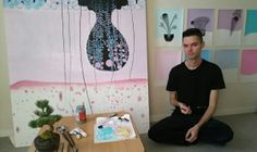 For artist Adam Norgaard, the repetition of patterns in his artwork serves as a ...