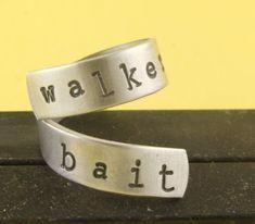 The Walking Dead - Walker Bait Wrap Twist Ring  Walking Dead by StampinOffThePath, $10.00