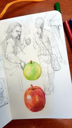 Яблочки | иллюстрации Павлика