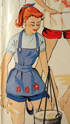 Vintage Apron Pattern 1950s - McCall Printed Sewing Pattern 1845