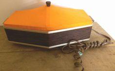 Vintage Retro Jasco Bun & Bread Warmer With Orange Canvas Top Tested Works Great