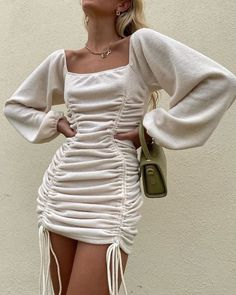 Discovered by Mademoiselle. Find images and videos about fashion, style and dress on We Heart It - the app to get lost in what you love. Cute Fall Outfits, Outfits For Teens, Trendy Outfits, Fashion Outfits, Cute Dresses For Teens, White Outfits For Women, Jackets Fashion, Teen Dresses, Womens Fashion Sneakers