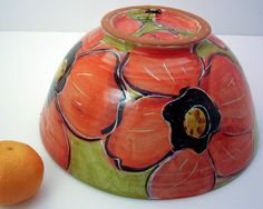 Handmade Large Majolica Pottery Serving by ClayLickCreekPottery, $80.00