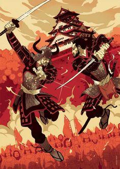 samurai by valarie Ronin Samurai, Samurai Warrior, Samurai Jack, Samurai Swords, Tomer Hanuka, Culture Art, Samurai Artwork, Ninja Art, Japanese Warrior