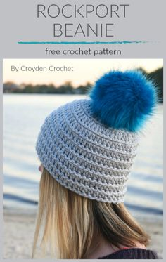 Crochet this fun and easy Rockport Beanie using Lion Brand Color Made Easy yarn. A great beginner project! Easy Crochet Patterns, Cool Patterns, Crochet Yarn, Free Crochet, Knitting Patterns, Crocheting Patterns, Crocheted Hats, Free Knitting, Crochet Ideas