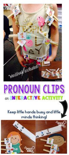 $ This pronoun activity will keep little hands busy and little minds thinking. Differentiated levels of support are included, plus when kids are done they can make their own pronoun book!