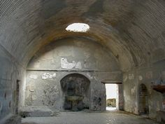 Ancient bath house Ercalano Italy