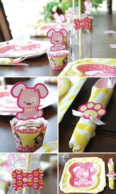 Puppy Party Favor Ideas: Shaped Cut Outs for Do It Yourself Party Favors #PoochPawty #BigDot