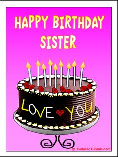 All wishes  message, wishes card, Greeting card, : Birthday Greetings Card for Sister, Birthday Wishe...