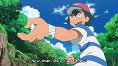 "Pokemon Sun and Moon Rockruff ""Rock Throw!"" Final Blow"