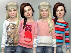 Lana CC Finds - Printed Sweatshirt for Girls P12 by Lillka