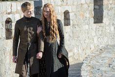 """Dean-Charles Chapman as Tommen Baratheon and @IAMLenaHeadey as Cersei Lannister in #GoTSeason5."""