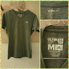 Adidas Climalite Ultimate Tee - Gray Adidas Climalite Ultimate Tee in great condition! Perfect for working out or enjoying the great outdoors! Adidas Tops Tees - Short Sleeve