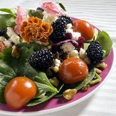 Salade d'épinards aux mûres @ allrecipes.fr