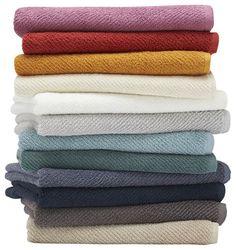 Air-Weight Bath Towel, Natural - contemporary - Towels - Coyuchi