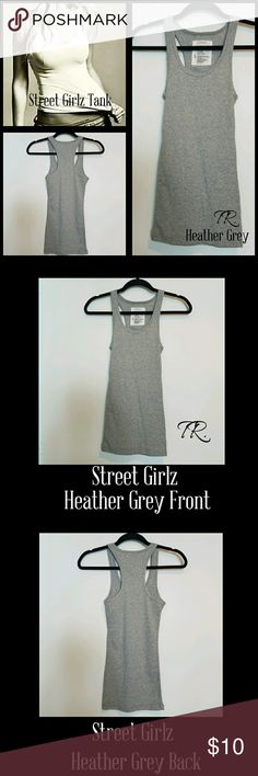 Street Girlz Heather Grey💋30%Off Bundles💋 5⭐️Customer Rated Street Girlz Racer Back Tanks!!! One of the best tanks around! Once you wear one you won't wear anything else. So many ways to wear. When working out, it won't loose its shape!! It's also the perfect tank to wear under your jean jacket, kimono, sun dress, hoodie, pj's really any thing! It's either super sexy or super functional. Wash cold,hang dry lasts for ever! 92% Cotton and 8% Spandex. IF YOU LIKE my ITEMS please FOLLOW ME for…