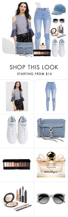 """""""Untitled #782"""" by ashantay87 ❤ liked on Polyvore featuring adidas, Rebecca Minkoff, Salvatore Ferragamo, Ace and Mudd"""