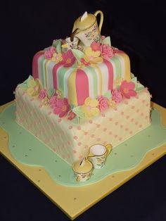 spring high tea party cake