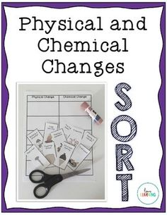 physical and chemical changes sorting activity chemical change sorting activities and ell. Black Bedroom Furniture Sets. Home Design Ideas