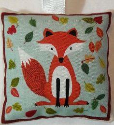 Fox Christmas Gift / Fox Fabric Lavender Bag / Fox Stocking Filler - Handmade
