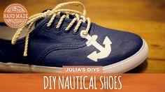 DIY Nautical Shoes - White Shoes Challenge Week - HGTV Handmade
