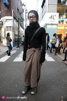 #japanese street fashion point: skirt buckle
