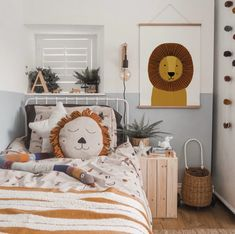 Looking for beautiful ideas for childrens / kids scandi decor this amazing room encompasses some of the best kids bedroom accessories available from s Boy Toddler Bedroom, Toddler Rooms, Girls Bedroom, Bedroom Decor, Nursery Decor, Childrens Bedrooms Boys, Nursery Prints, Boys Jungle Bedroom, Bedroom Furniture