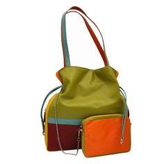 ILI 6094 Leather Drawstring Handbag