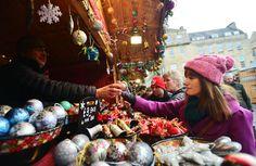 Shopping at Bath Christmas Market