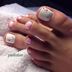 How to Get Your Feet Ready for Summer - 50 Adorable Toe Nail Designs 2019 - . How to Get Your Feet Ready for Summer - 50 Adorable Toe Nail Designs Swoon-Worthy Hairdos for Long Hair - Long Haircut - Pretty Toe Nails, Cute Toe Nails, Toe Nail Art, Pretty Toes, Beach Toe Nails, Flower Toe Nails, Acrylic Toe Nails, Simple Toe Nails, Pretty Pedicures