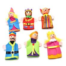 6pcs Finger Puppet Doll Queen Puppet Toy Means Even Dolls Puppet Placarders Dolls Baby Story Telling Hot Selling Stuffed Toys(China (Mainland))