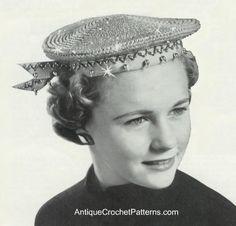 Vintage Sparkling Sailor Hat - Crochet Hat Pattern