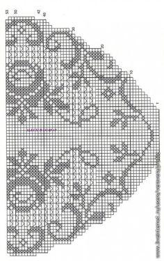 filet häkeln crochet - Szydełkomania: Obrus okragły